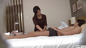 Japanese massage gone wrong handjob with cumshot Subtitles