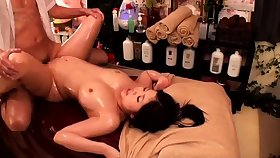 Massage with twat fingering for Japanese unspecific