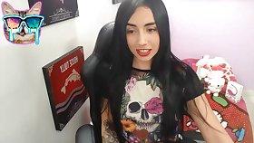 Nice brunette on webcam