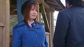 Perfect tits Japanese Aya Koizumi gets fucked in into the open air