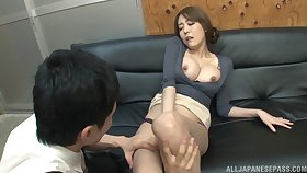 Foxy Japanese Akari Asagiri teases in public increased by gets fucked