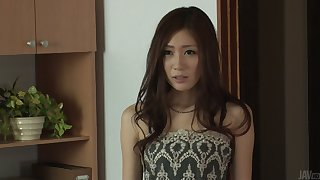 Pretty Japanese gal Kaori Maeda gets her pussy fucked and creampied