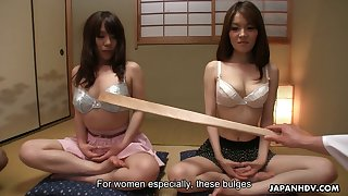 Japanese hoe Anna Kirishima and her assistant serve two dudes at the highest level
