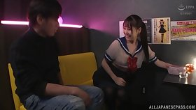 Clothed sex is what horny chick Nagase Minamo prefers regarding this dude