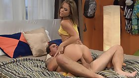 Kristina Rose got a load be useful to sticky cum in her hot succinct mouth